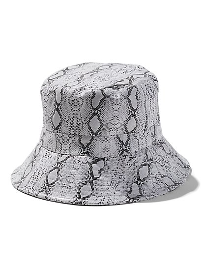 7d0f94ed Snake-Print Bucket Hat - New York & Company ...