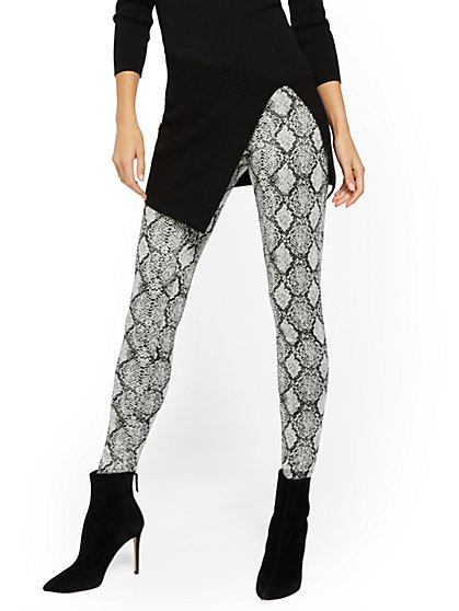 Snake-Print Legging - New York & Company