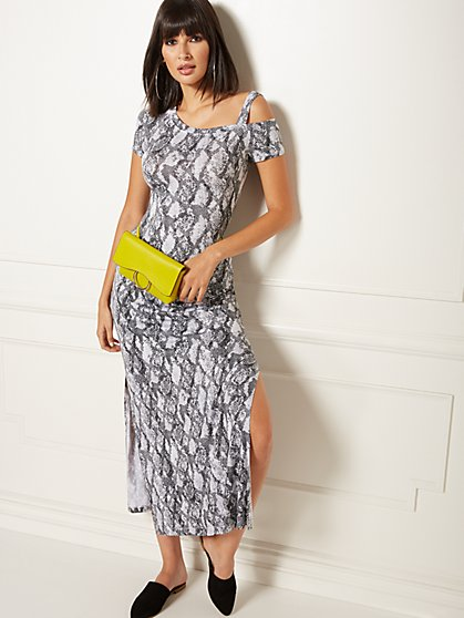 Snake-Print One-Shoulder Top - Soho Street - New York & Company