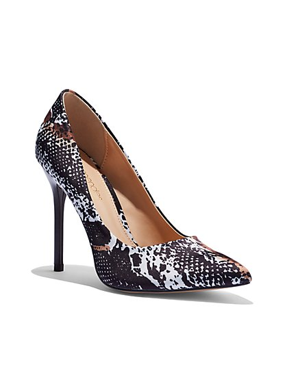 Snake-Print Pump - Eva Mendes Collection - New York & Company