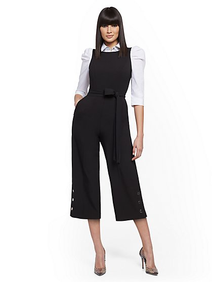 Snap-Closure Culotte Jumpsuit - New York & Company