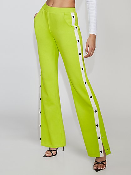 Snap-Closure Straight-Leg Pant - Gabrielle Union Collection - New York & Company