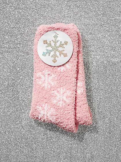 Snowflake Cozy Socks - New York & Company