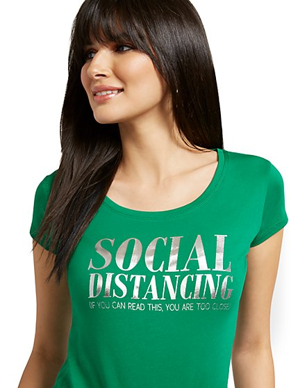 Social Distancing Graphic Tee - New York & Company