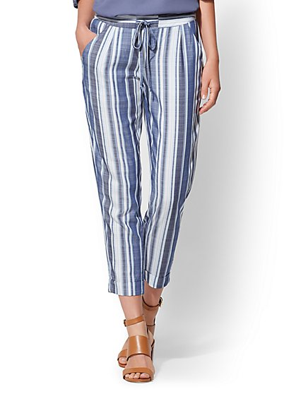 Soft Ankle Pant - Stripe - New York & Company