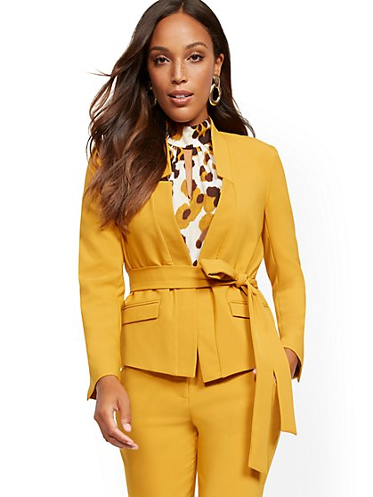 Soft Madie Blazer - Belted - 7th Avenue - New York & Company