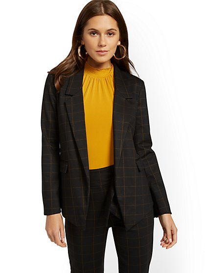 Soft Madie Blazer - Black - 7th Avenue - New York & Company