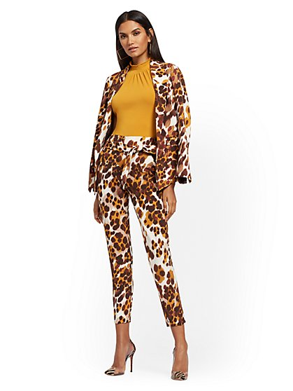 Soft Madie Blazer - Leopard Print - 7th Avenue - New York & Company