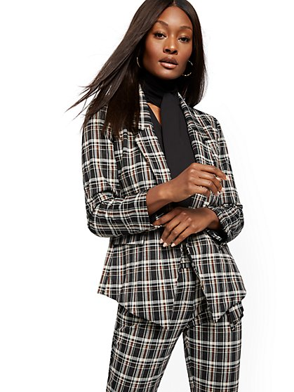 Soft Madie Blazer - Plaid - 7th Avenue - New York & Company