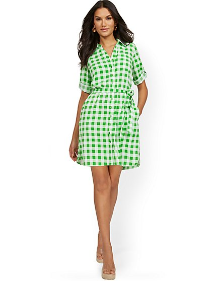 Soft Tie-Front Shirtdress - New York & Company