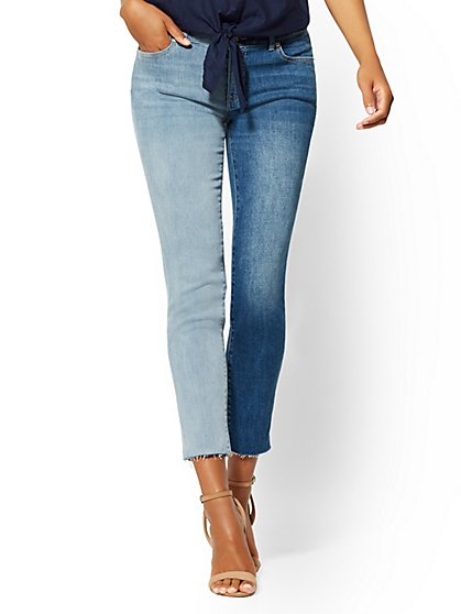 Soho Jeans - 2-Tone Boyfriend - Blue Spirit - New York & Company
