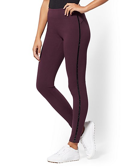 Soho Jeans - Burgundy Legging - Ponte - New York & Company