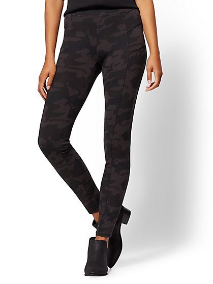 Soho Jeans - Camo High-Waist Legging - Ponte - New York & Company