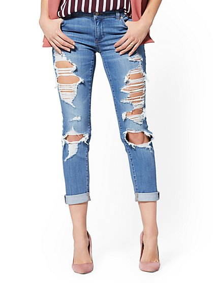 Soho Jeans - Destroyed Boyfriend - Arctic Blue - New York & Company
