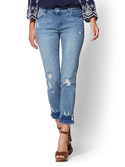 Soho Jeans - Destroyed Boyfriend Jeans - Jaded Blue - New York & Company