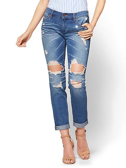 Soho Jeans - Destroyed Boyfriend Jeans - New York & Company