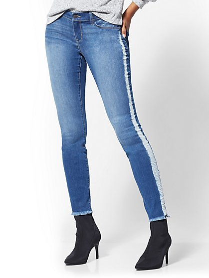 Soho Jeans - Destroyed Legging - Medium Blue - New York & Company