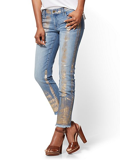 Soho Jeans - Metallic-Foil Boyfriend - New York & Company