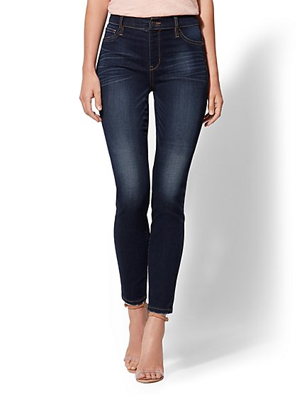 Soho Jeans - NY&C Runway - High-Waist Pull-On Legging - Dark Blue - New York & Company