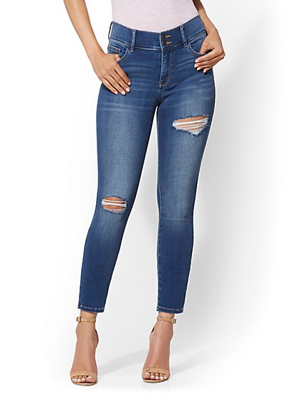 Soho Jeans - NY&C Runway - Super Stretch - High-Waist Petite Curvy Legging - New York & Company