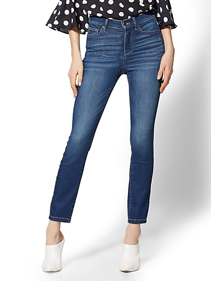 Soho Jeans - NY&C Runway - Ultimate Stretch - High-Waist Ankle Legging - Nighttime Blue - New York & Company