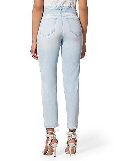 49a29f8608d ... Soho Jeans - Paperbag-Waist Slim Leg - Light Indigo - New York   Company  ...