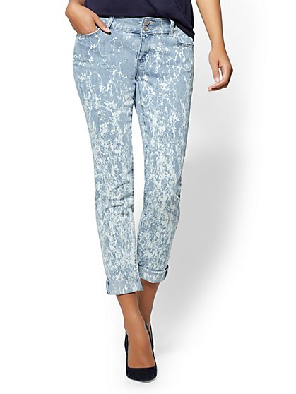 Soho Jeans - Squiggle-Print Boyfriend Jeans - New York & Company