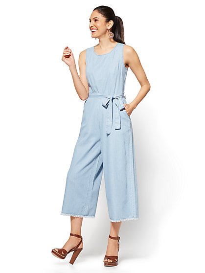Soho Jeans - Ultra-Soft Chambray Jumpsuit - New York & Company