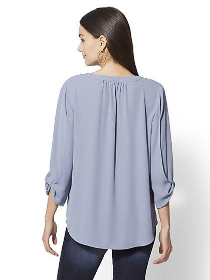 Women S Soho Shirts Cropped Printed Sleeveless Ny C