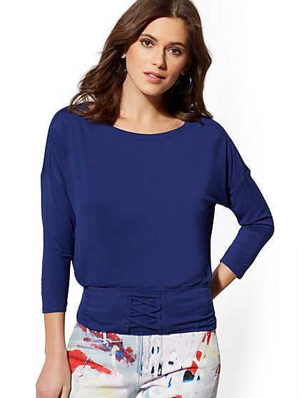 Soho Soft Tee - Corset Top - New York & Company