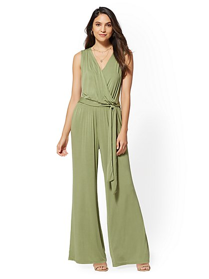 Soho Street - Belted Wrap Jumpsuit - New York & Company