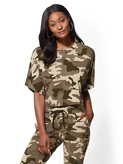Soho Street - Camo Dolman Top - New York & Company