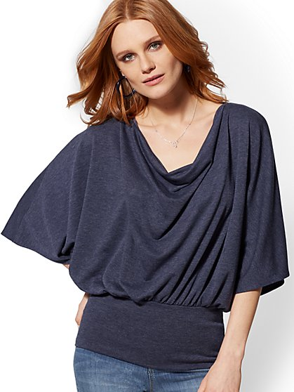 Soho Street - Draped Cowl-Neck Top - New York & Company