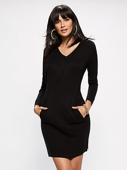 Soho Street - Hooded Sweater Dress - New York & Company