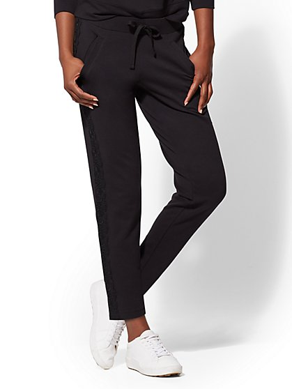 Soho Street - Lace-Trim Jogger Pant - New York & Company