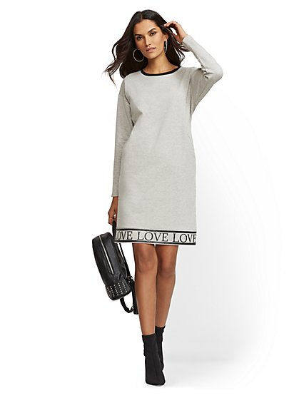 "Soho Street - ""Love"" Sweatshirt Dress - New York & Company"