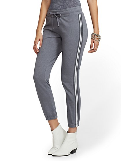 Soho Street - Metallic-Stripe Jogger - New York & Company