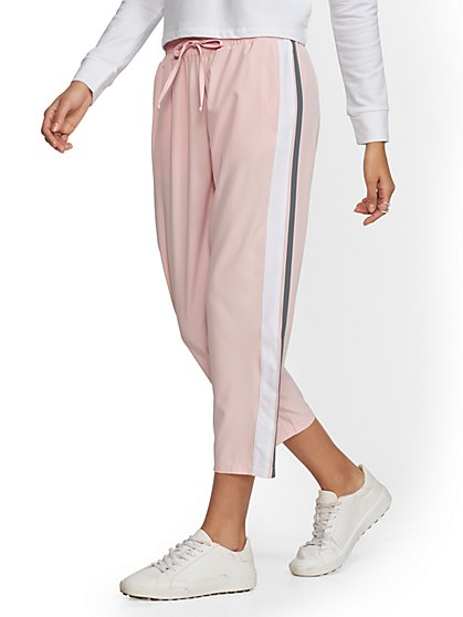 Soho Street - Pink Racing-Stripe Jogger - New York & Company