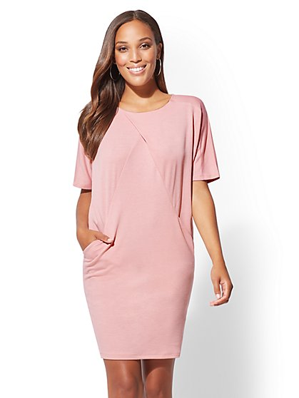 Soho Street - Pleated Shift Dress - New York & Company