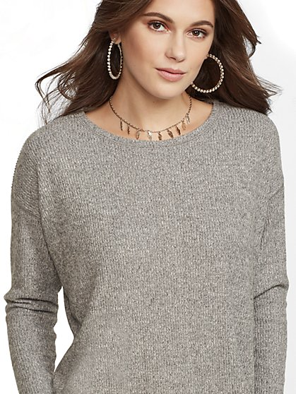 Soho Street - Ribbed-Knit Top - New York & Company