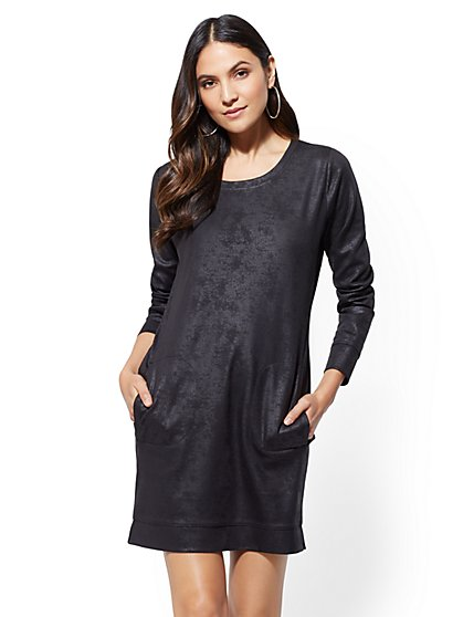 Soho Street - Shimmer Sweatshirt Dress - New York & Company