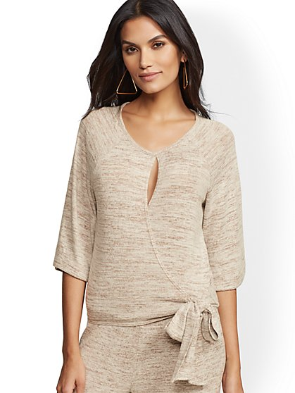 Soho Street - Side-Tie Wrap Top - New York & Company