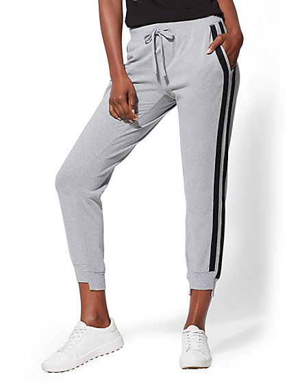 Soho Street - Stripe Step-Hem Jogger - New York & Company