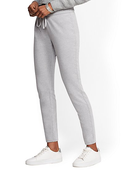 Soho Street - Studded-Trim Jogger Pant - New York & Company