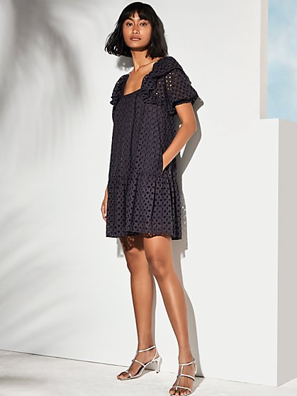 Solara Eyelet Mini Dress - New York & Company