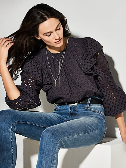 Solara Eyelet Top - New York & Company