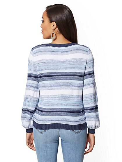 75e93b4798 ... Space-Dye Stripe Sweater - New York & Company