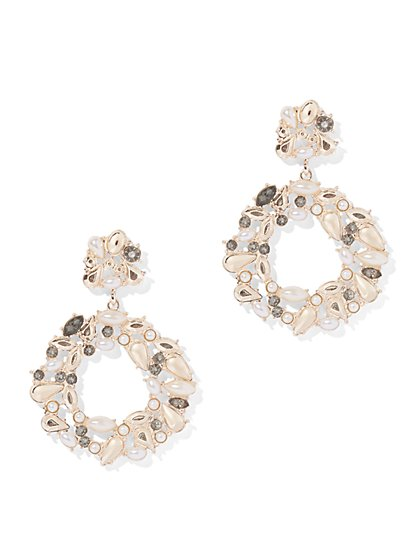 Sparkling Circular Drop Earring - New York & Company