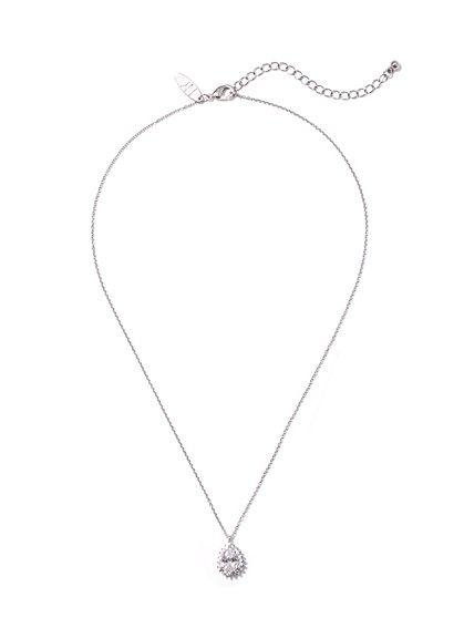 Sparkling Cubic Zirconia Pendant Necklace - New York & Company