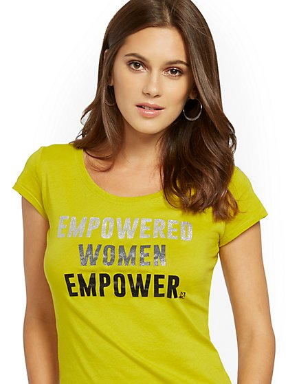 "Sparkling ""Empowered Women Empower"" Tee - New York & Company"